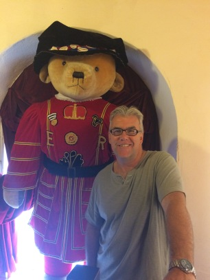 My dad at the Teddy Bear Museum.